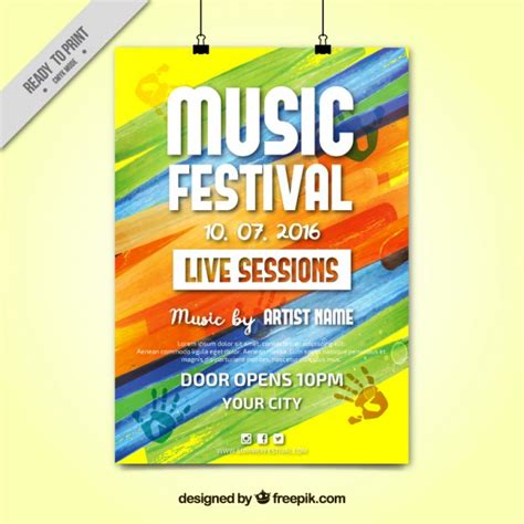 colorful posters colorful paint festival poster vector free