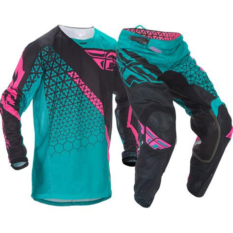 purple motocross gear fly racing mx kinetic mesh trifecta dirt bike teal