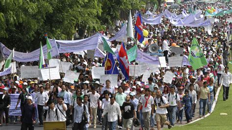 Demand Letter Myanmar Worker Myanmar Asian Workers Demand Pay Hikes At May Day Marches Myanmar News Thailand Visa Forum