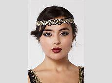 Black And Gold Headband Modern Flapper Hair