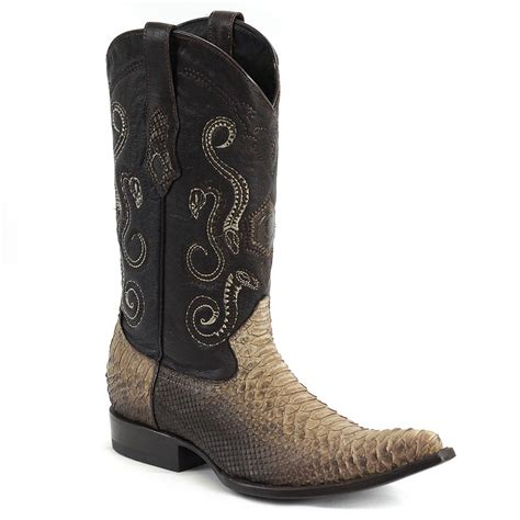 Handmade Mexican Boots - cuadra mens python cowboy boots handmade in mexico nessabel