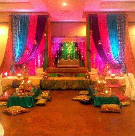 Mehndi party stage decor   Wedding Ideas   Indian wedding