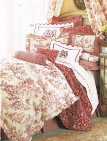 layers of red toile bedding textiles bedrooms pinterest toile bedrooms yellow toile bedding blue toile bedding