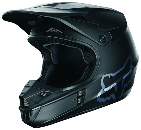 fox helmet motocross fox racing v1 matte black helmet revzilla