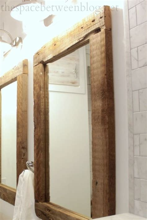 rustic mirrors for bathrooms 17 best ideas about reclaimed wood mirror on pinterest