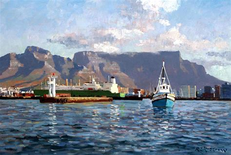 paint nite cape town cape town harbor entrance painting by roelof rossouw