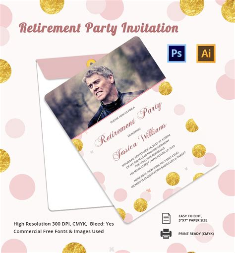 Microsoft Retirement Card Template by Retirement Invitation Template 15 Free Psd Vector Eps