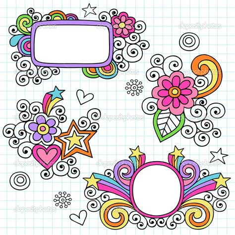 doodle frame vector free depositphotos groovy picture frames psychedelic doodles