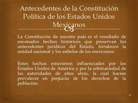 constitucion politica de los estados unidos mexicanos 2015 derecho constitucional 1