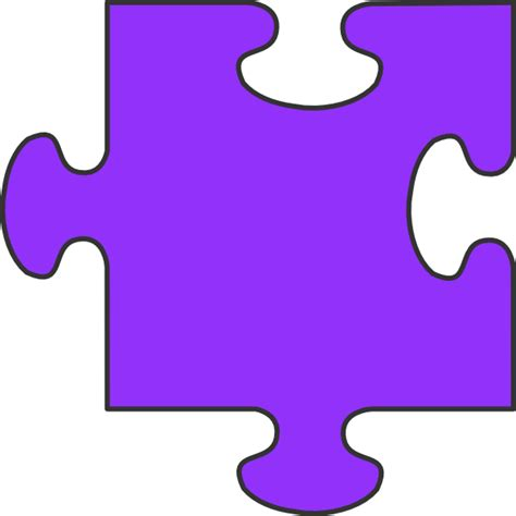 Puzzle L by Purple Puzzle Clip At Clker Vector Clip
