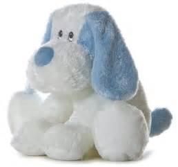 Plush blue amp white puppy dog 034 scruff 034 stuffed animal toy new