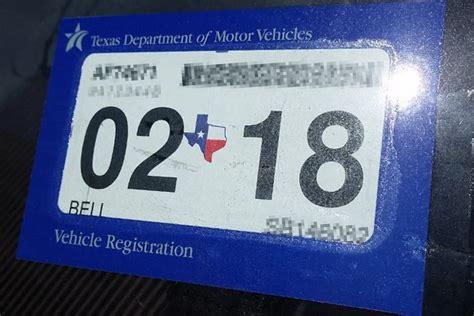2018 Car Registration Sticker