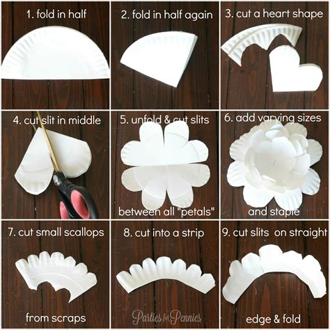 How To Make A Phlet Out Of Paper - how to create a flower from a paper plate for
