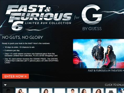 Running Sweepstakes - g by guess fast 6 limited run sweepstakes