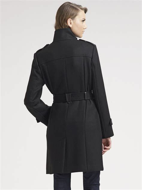 Wool Belted A Line Coat From Ms by Lyst Cole Haan Belted Wool Coat In Black