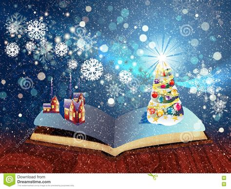the magical christmas creative 1539967875 christmas magic book stock illustration image of children 81445307