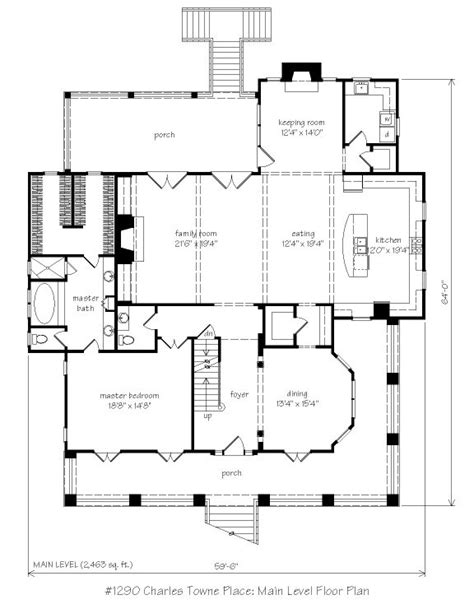 House Plans With Keeping Rooms by 4 027 Sq Ft Charles Towne Place L Mitchell Ginn