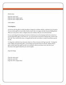 Word Doc Letter Template by 6 Microsoft Word Business Letter Template
