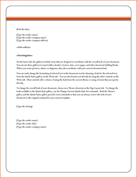 mail merge letter template 6 microsoft word business letter template
