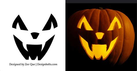 easy pumpkin templates 15 free printable scary pumpkin carving stencils