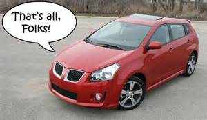 06 Pontiac Vibe Dened Pontiac Vibe Production Ends This August