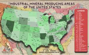 the united states of industrial minerals map burgex inc
