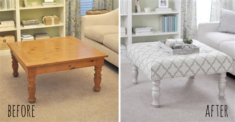 how to make an upholstered ottoman upholster a footstool diy crafts
