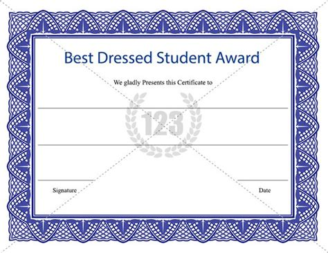 best dressed award certificate template bing images