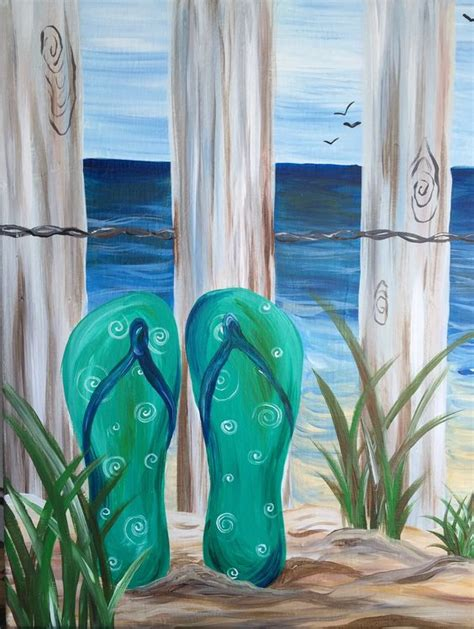 spring painting ideas flip flop canvas paintings google search spring and