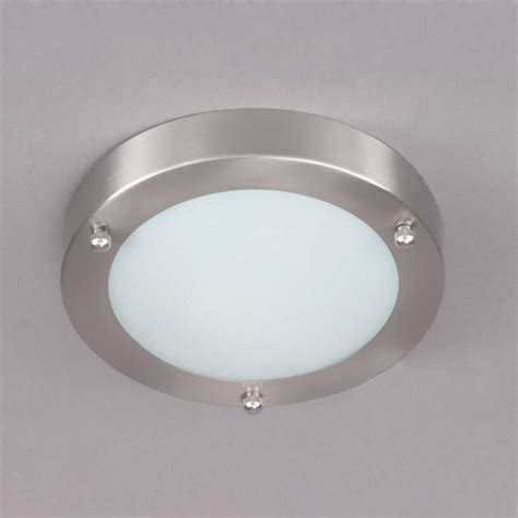 Bathroom Lighting Ceiling Mari Flush Bathroom Light Satin Nickel From Litecraft