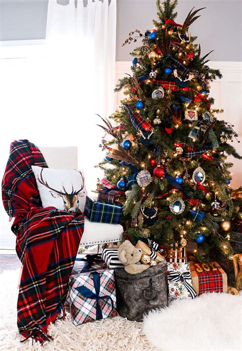 plaid christmas decor ideas for the holidays house of
