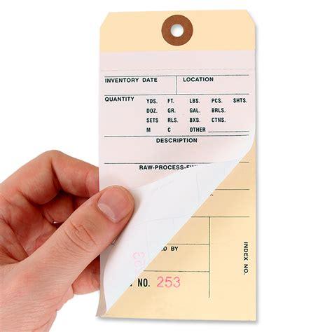 printable manila tags ncr inventory tags manila 2 part sku t401 n c2