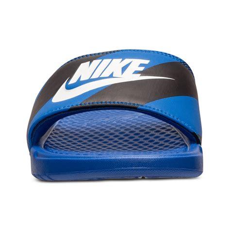 nike benassi jdi print slide sandals nike s benassi jdi print slide sandals from finish