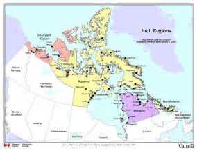 map four regions of inuit nunaat