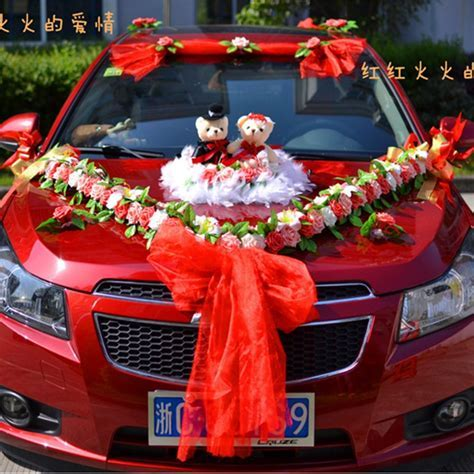 Flower wedding car decoration kit Korean car decoration