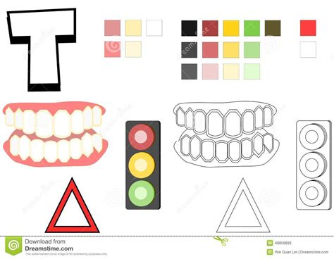 colors that start with t objects spelled with letter t drawing template for