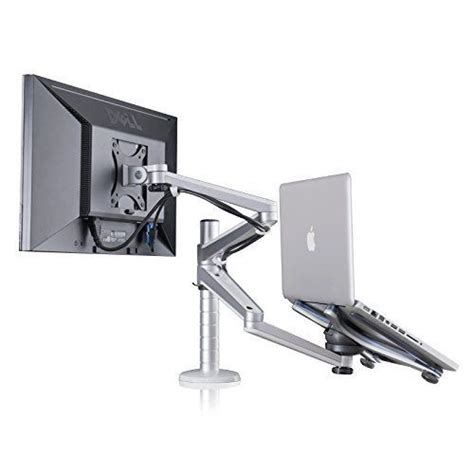 Laptop Desk Mount Adjustable Aluminium Universal Laptop Notebook Computer Monitor Stand Desk Mount Bracket Cl