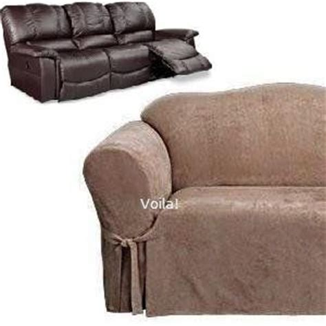 Sure Fit Dual Reclining Sofa Slipcover Reclining Sofa Slipcover Suede Taupe Dual Recliner Couch