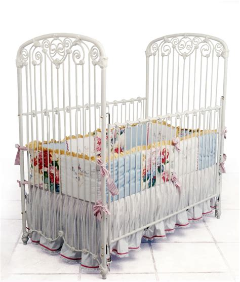 White Iron Cribs by Regal Scroll Iron Crib In White