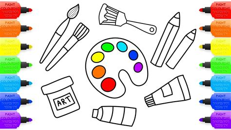 coloring for creativity how to draw set tools for painter coloring pages kit