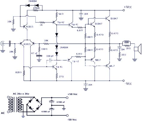 transistor power lifier circuit diagram wiring diagram