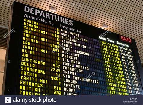 uk airport arrivals and departures information websites flight schedule monitor at airport stock photo royalty