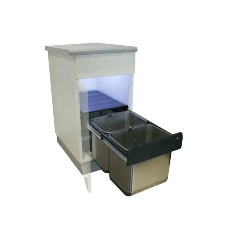 poubelles de cuisine encastrables poubelle basse 2 bacs 30l inox