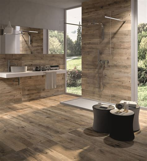 Dakota Ceramic Tiles That Replicate Aged Wood Digsdigs Wood Look Tile Bathroom