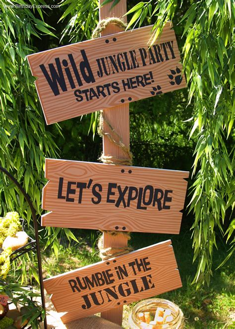 safari themed events jungle book party sign birthdayexpress com