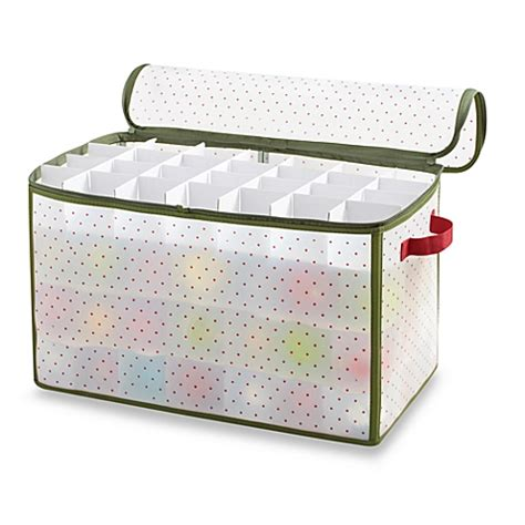 Ornament Box Storage - real simple 174 112 count ornament storage box bed