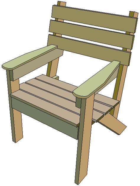 wooden simple garden chair outdoor furniture plans