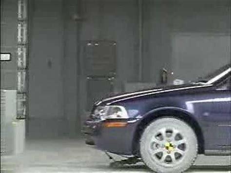 crash test   volvo  iihs frontal impact youtube