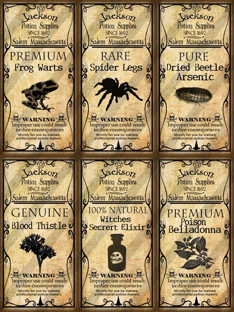printable potion labels the gallery for gt polyjuice potion label