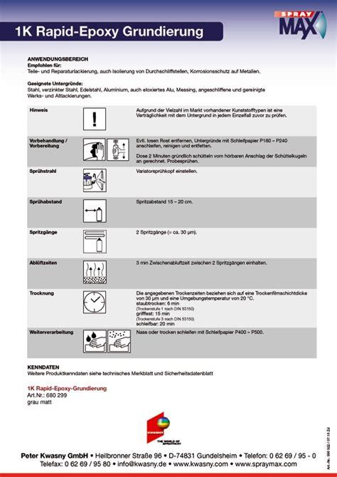 Gfk Mit Spraydose Lackieren by Spraymax 1k Epoxy Grundierung Rapid Rostschutz Primer